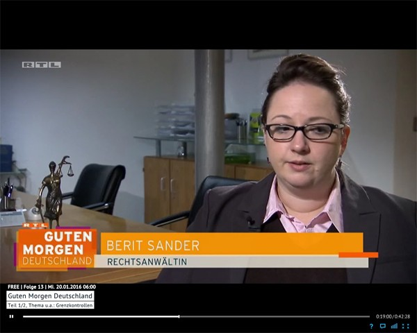 RTL Guten Morgen vom 20.01.2016